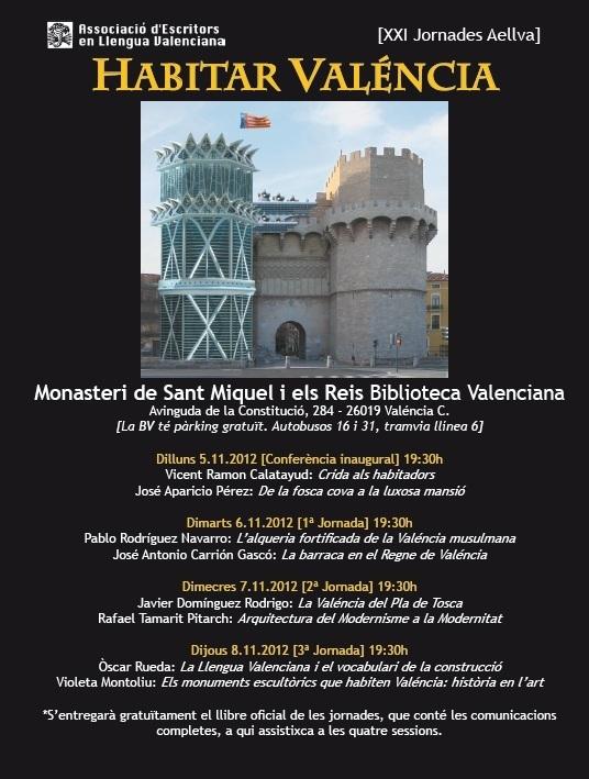 XXI Jornades dels Escritors - 2012